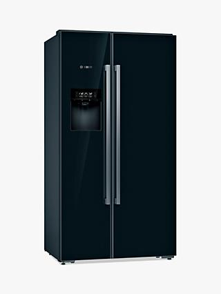 Bosch Serie 8 KAD92HBFP Freestanding 70/30 American Fridge Freezer, Black