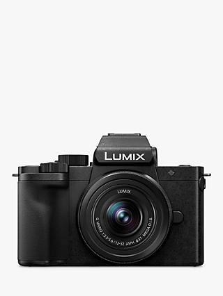"Panasonic Lumix DC-G100 Compact System Camera with 12-32mm IS Lens, 4K Ultra HD, 20.3MP, Wi-Fi, Bluetooth, Live Viewfinder, 3"" Vari-Angle Touch Screen, Black"