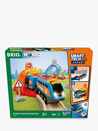 BRIO World Smart Tech Action Tunnel Circle Set, FSC-Certified (Beech)