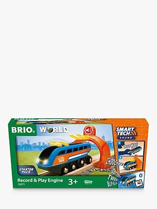 BRIO World Smart Tech Record & Play Engine Starter Pack, FSC-Certified (Beech)