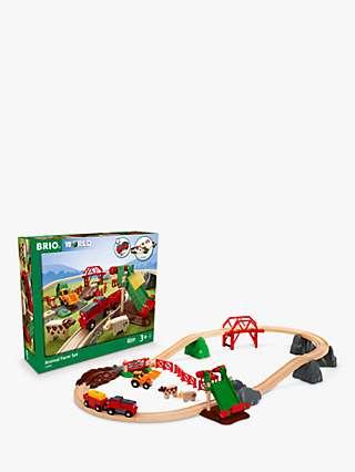 BRIO World Animal Farm Wooden Train Set, FSC-Certified (Beech)