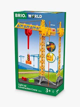 BRIO World Light Up Construction Crane, FSC-Certified (Beech)