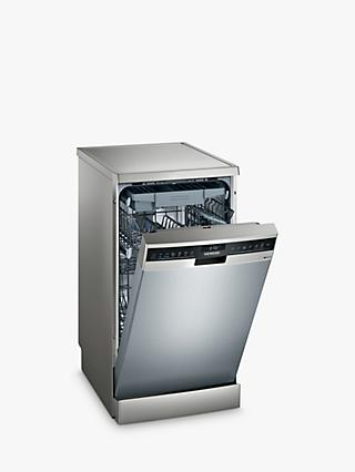 Siemens iQ300 SR23EI28ME Freestanding Slimline Dishwasher, A++ Energy Rating, Stainless Steel