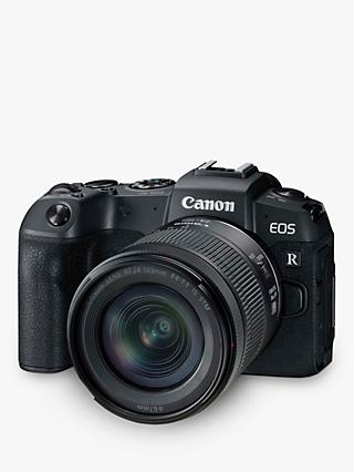 "Canon EOS RP Compact System Camera with RF 24-105mm IS STM Lens, 4K Ultra HD, 26.2MP, Wi-Fi, Bluetooth, OLED EVF, 3"" Vari-Angle Touch Screen"