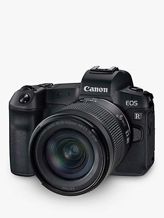 "Canon EOS R Compact System Camera with RF 24-105mm IS STM Lens, 4K Ultra HD, 30.3MP, Wi-Fi, Bluetooth, OLED EVF, 3.1"" Vari-Angle Touch Screen"
