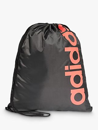 adidas Core Drawstring Bag, Black/Pink