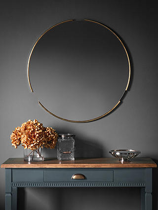 Fitzroy Round Wood Frame Mirror 80cm, Round Wood Frame Mirror Uk
