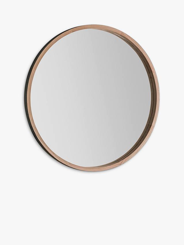 Bowman Large Round Oak Wood Frame, Round Wood Frame Mirror Uk