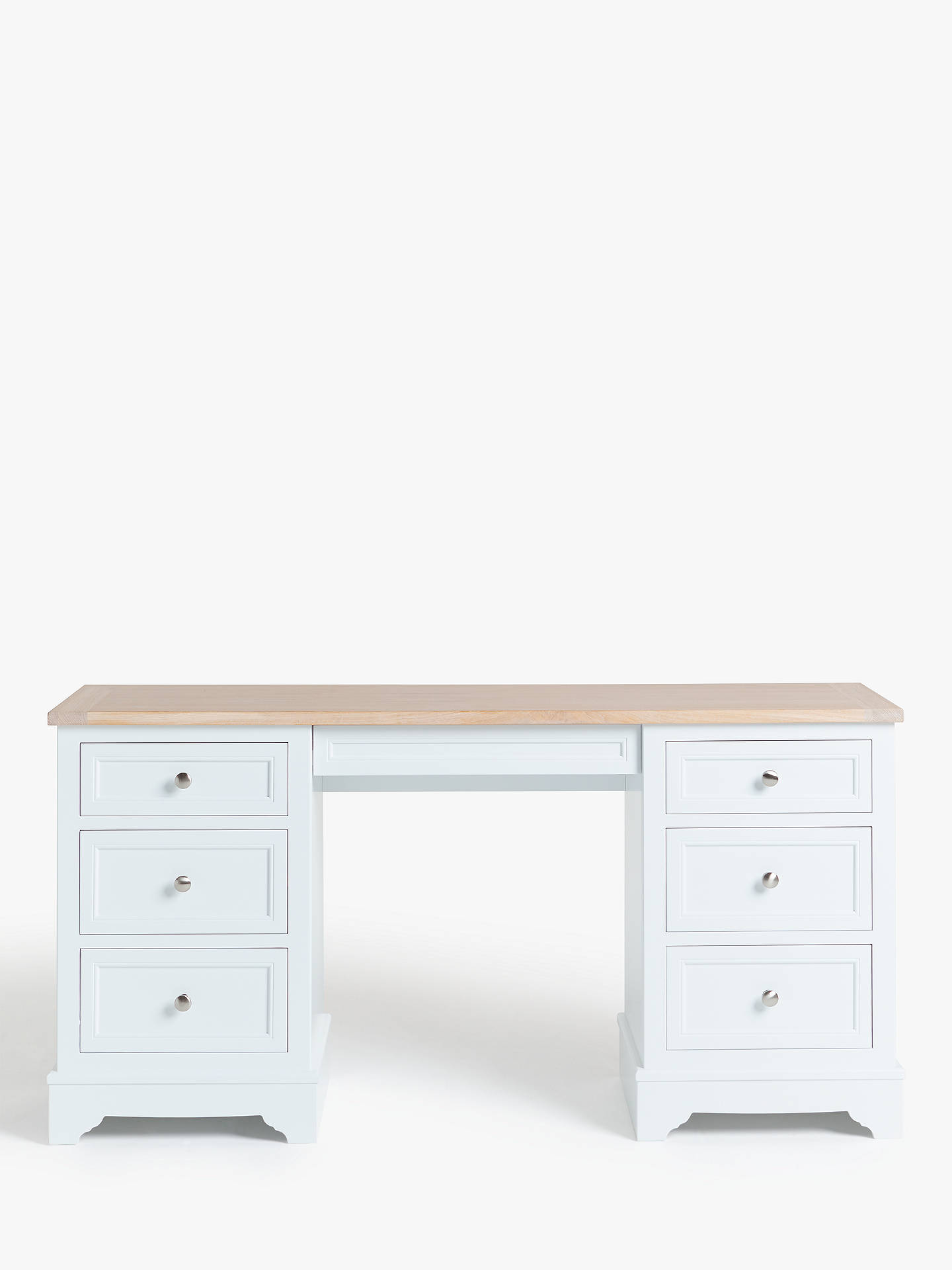 Buy John Lewis & Partners St Ives Dressing Table, FSC Certified (Oak, Birch, Oak Veneer, MDF), White Haze Online at johnlewis.com