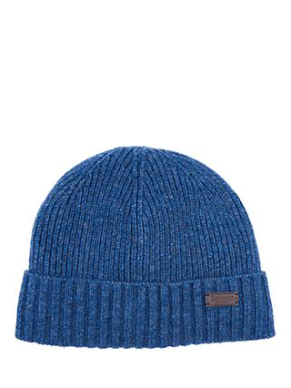 Barbour Carlton Wool Blend Beanie, One Size, Denim