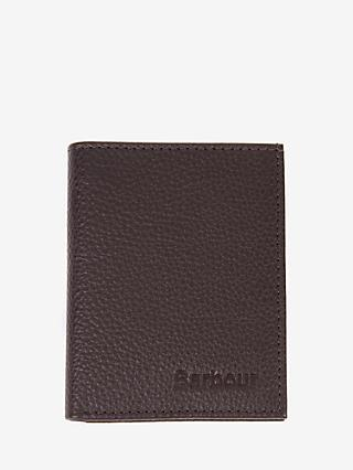 Barbour Amble Grain Leather Small Bifold Wallet, Brown