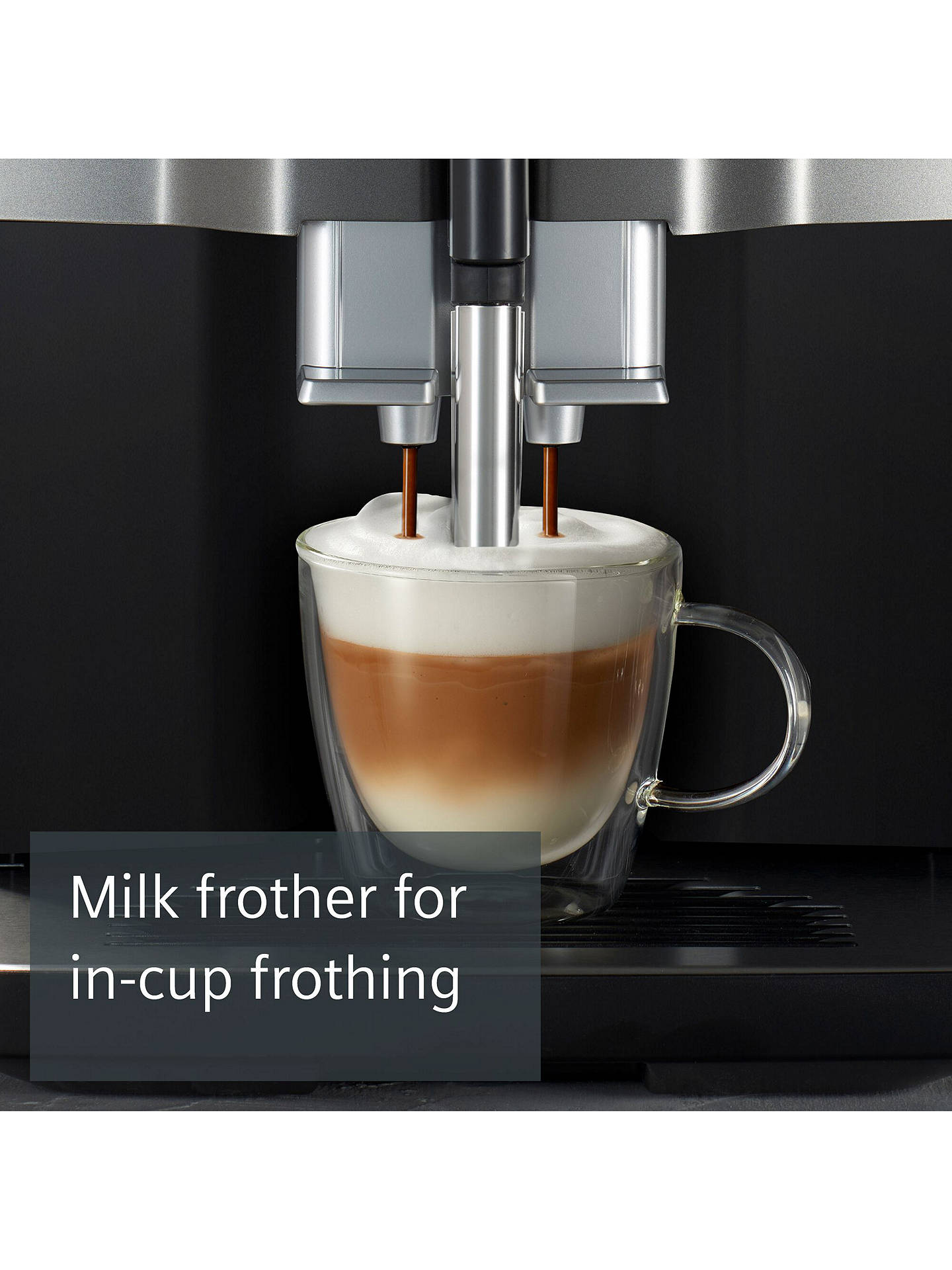 Buy Siemens TI351209GB EQ.300 Bean to Cup Coffee Machine, Black Online at johnlewis.com