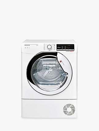 Hoover Dynamic Next DXOC9TCE-80 Condenser Freestanding Tumble Dryer, 9kg Load, B Energy Rating, White