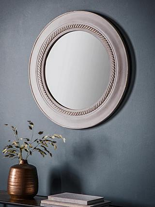 Neeson Round Wood Frame Wall Mirror 60cm, Round Wood Frame Mirror Uk