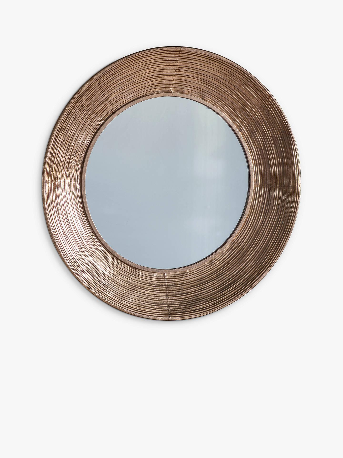 Knowle Round Metal Frame Mirror 72cm Gold At John Lewis Partners