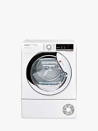 Hoover Dynamic Next DXOH9A2TCE-80 Heat Pump Freestanding Tumble Dryer, 9kg Load, A++ Energy Rating, White