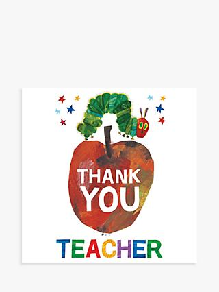Woodmansterne The Very Hungry Caterpillar Thank You Teacher Card