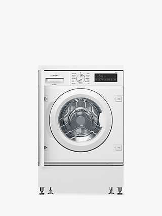 Siemens iQ700 WI14W501GB Integrated Washing Machine, 8kg Load, 1400rpm Spin, White