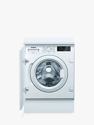 Siemens WI14W301GB Integrated Washing Machine, 8kg Load, A+++ Energy Rating, 1400rpm Spin, White