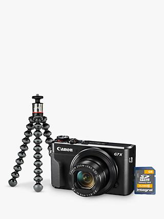 "Canon PowerShot G7 X Mark II Digital Camera, HD 1080p, 20MP, 4.2X Optical Zoom, DIGIC 7 Processor, NFC, Wi-Fi, 3"" LCD Screen, Vlogger Kit with Joby Gorillapod & Memory Card"