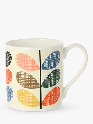 Orla Kiely Multi Stem Scribble Mug, 300ml, Multi