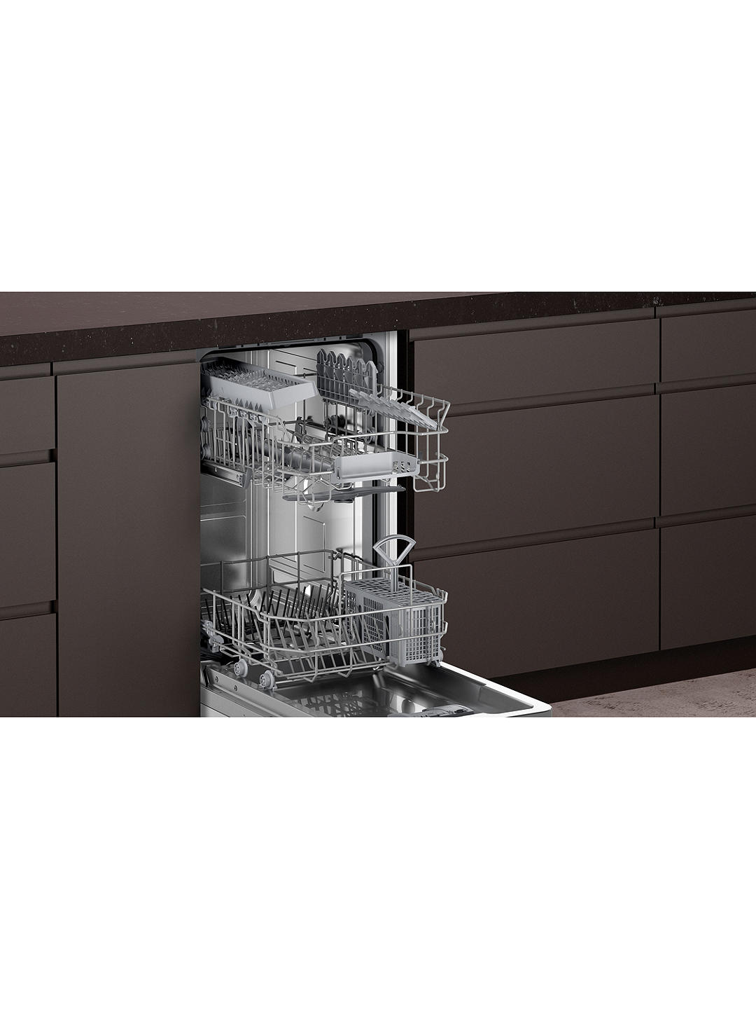Buy Neff N50 S875HKX20G Integrated Slimline Dishwasher Online at johnlewis.com