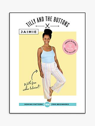 Tilly and the Buttons Jaimie Pyjama Bottoms Sewing Pattern