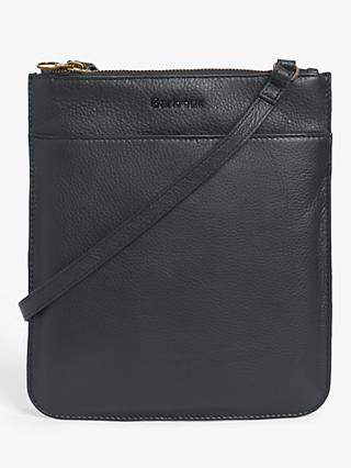 Barbour Bexington Leather Crossbody Bag, Black