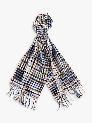 Barbour Barmack Houndstooth Wool Scarf, Tartan Trench