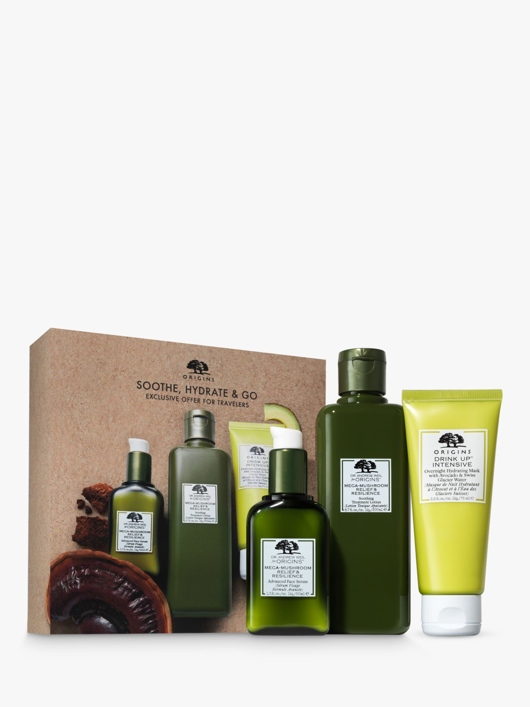Origins Soothe Hydrate And Go Skincare Gift Set At John Lewis Partners