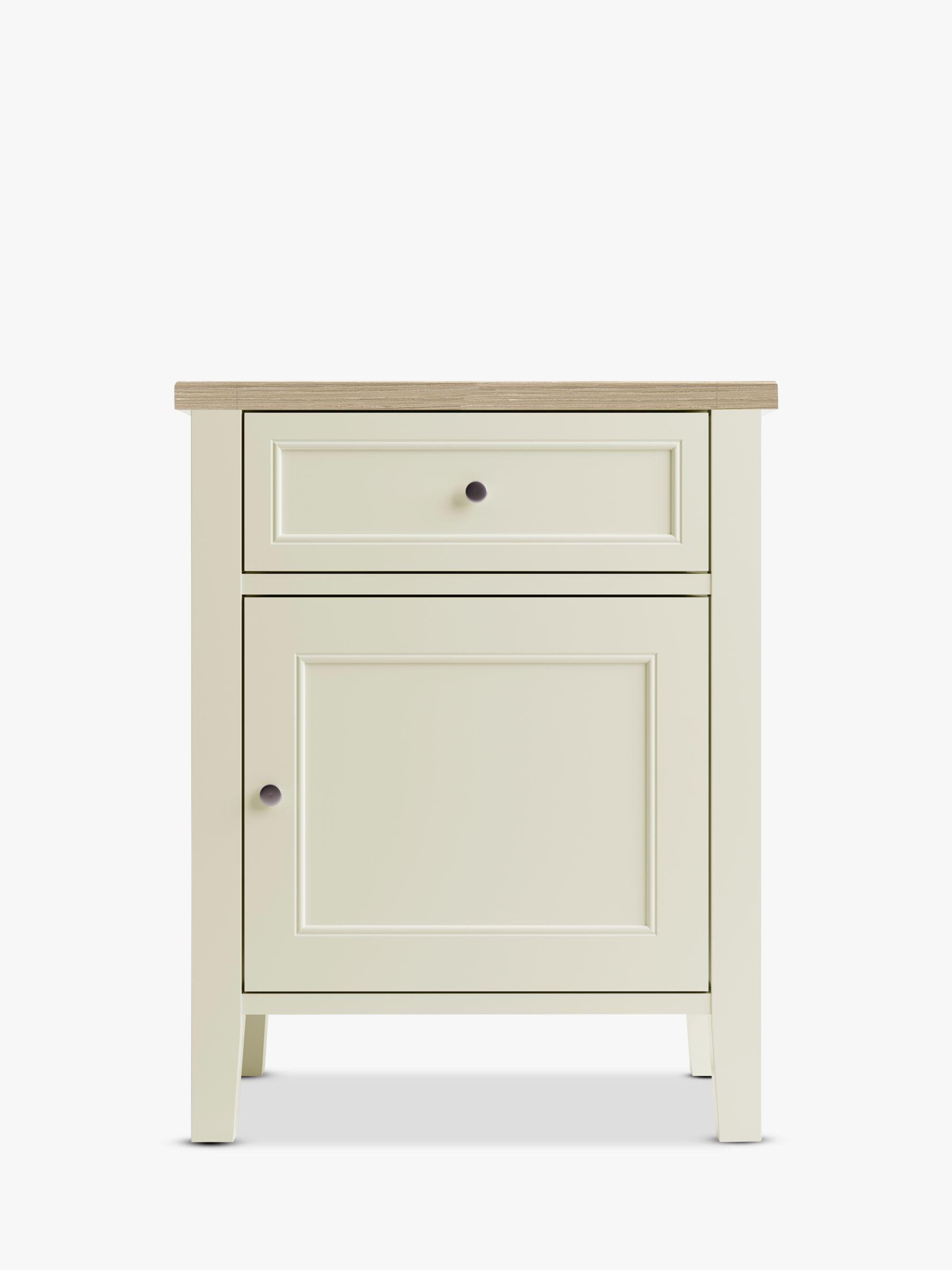 John Lewis & Partners St Ives Storage Bedside Table, FSC Certified (Oak, Birch, Oak Veneers, MDF)