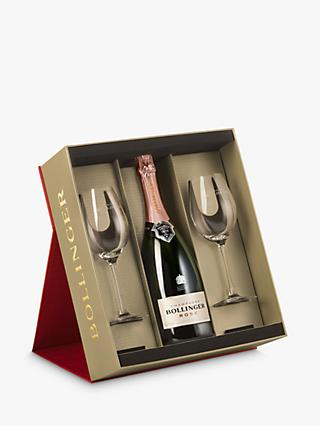 Champagne Bollinger Rose with 2x Glasses, 75cl