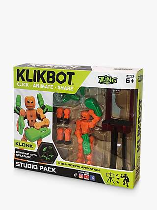KlikBots Klonk Stop Motion Animation Figure Studio Pack