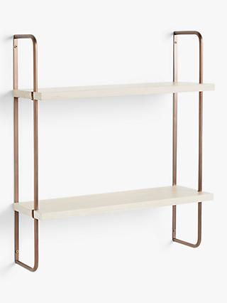 Design Project by John Lewis No.185 Narrow Shelves, Natural/Oak