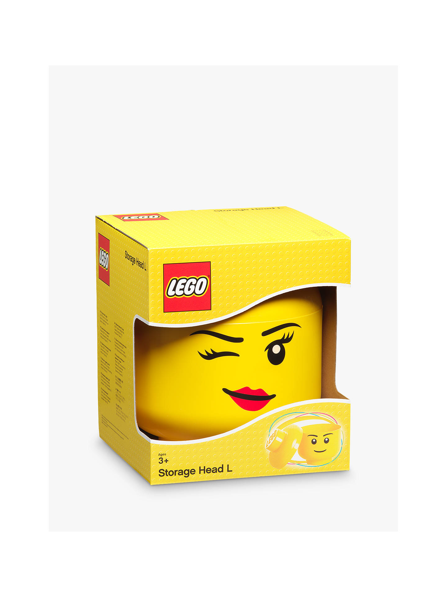 Buy LEGO Storage Head, Large, Winky Online at johnlewis.com
