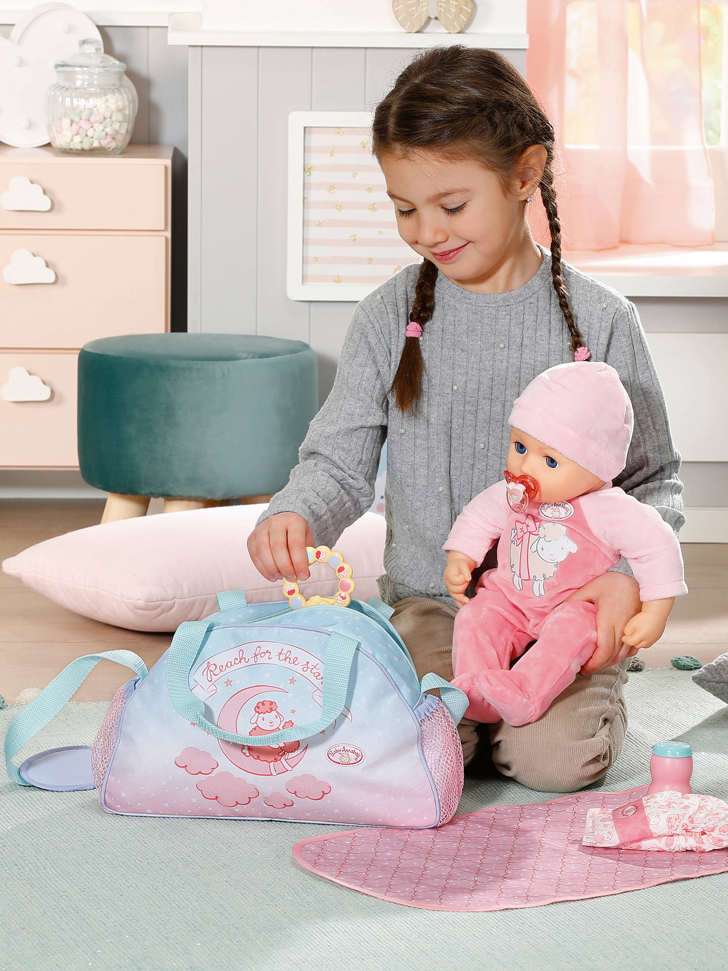 Zapf Baby Annabell Changing Bag at John Lewis & Partners