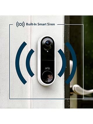 Buy Arlo Smart Video Doorbell, Wired Online at johnlewis.com