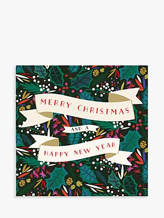 Laura Darrington Design Holly Christmas & New Year Card