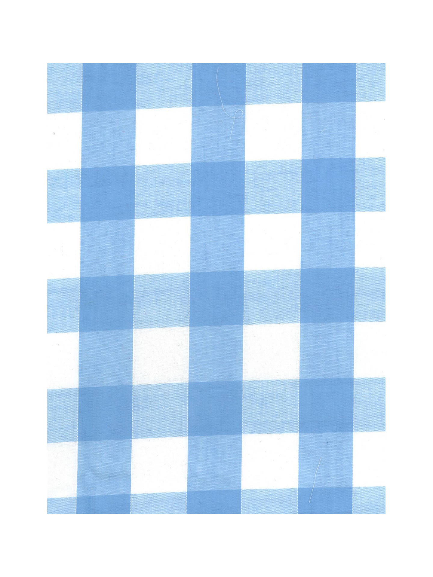 "Buy Oddies Textiles 1"" Gingham Print Fabric, Pale Blue Online at johnlewis.com"
