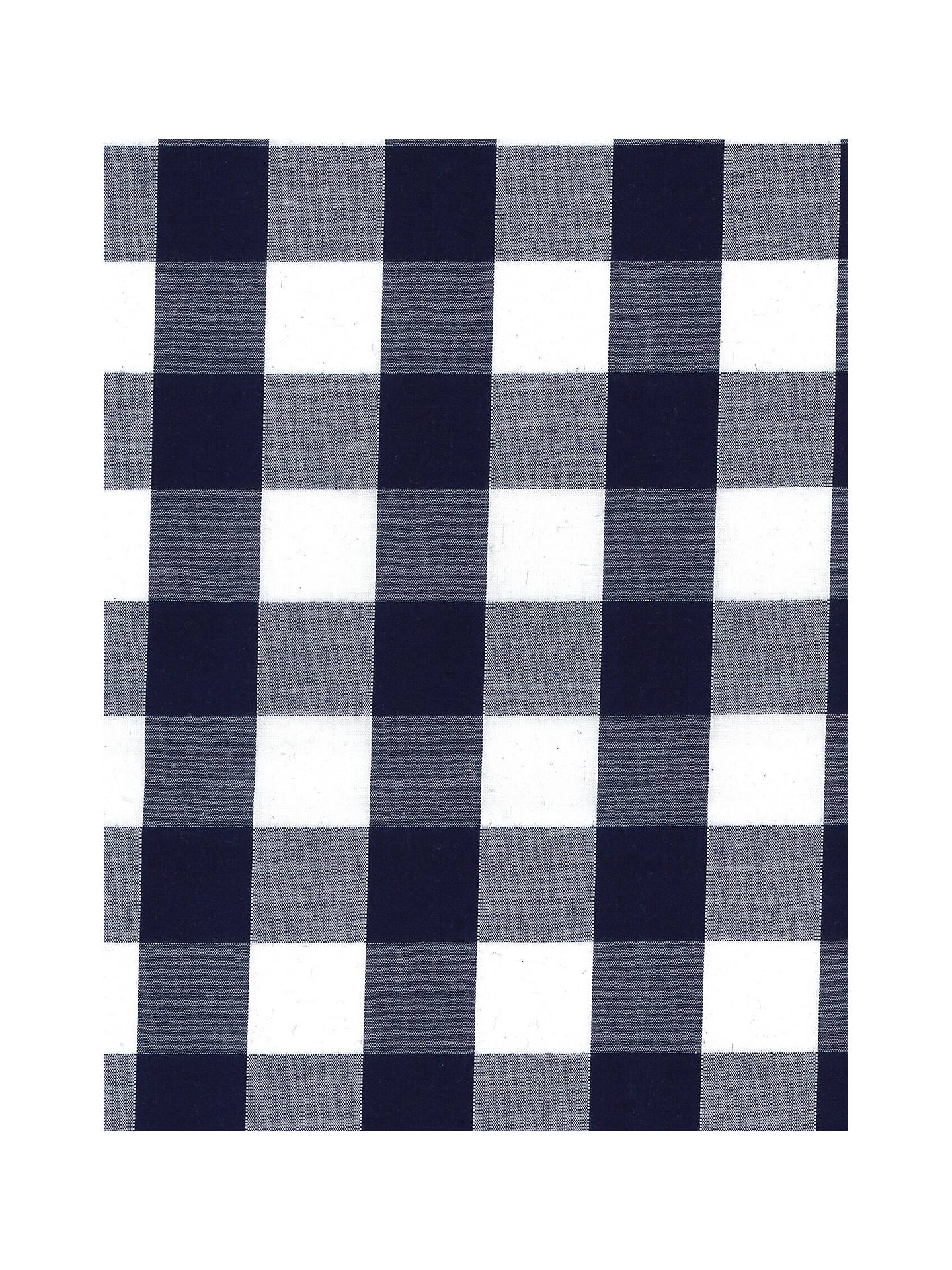 "Buy Oddies Textiles 1"" Gingham Print Fabric, Navy Online at johnlewis.com"