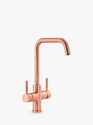 Abode ProPure Quad Slimline Monobloc 4-in-1 Instant Steaming Hot & Filtered Water 2 Lever Kitchen Tap