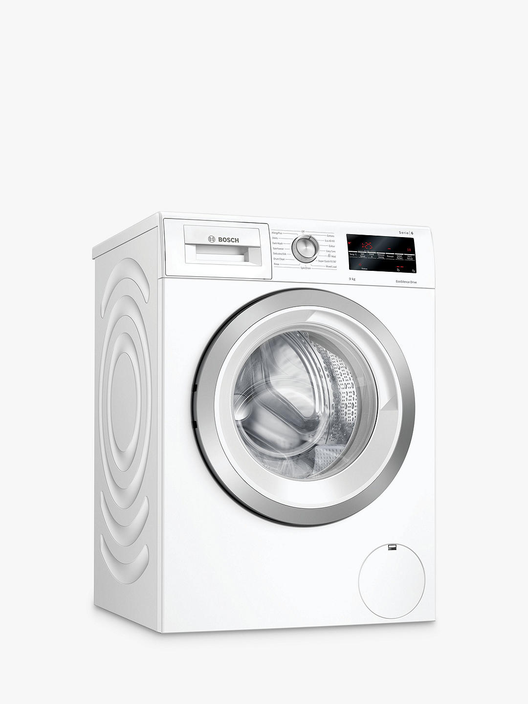 Buy Bosch Serie 6 WAU28T64GB Freestanding Washing Machine, 9kg Load, 1400rpm Spin, White Online at johnlewis.com