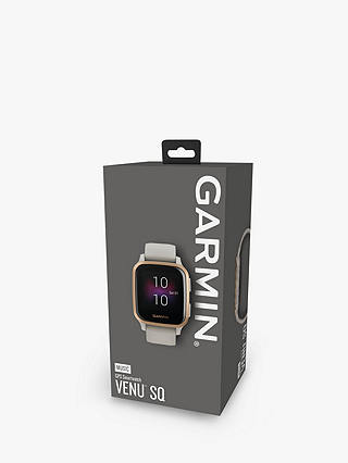 Buy Garmin Venu Sq Music Edition, GPS, Smartwatch, Light Sand with Rose Gold Bezel Online at johnlewis.com