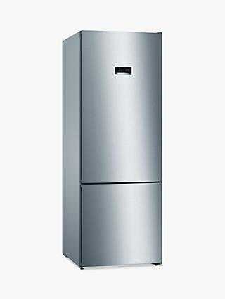 Bosch Serie 4 KGN56XLEA Freestanding 70/30 Fridge Freezer, Stainless Steel Effect