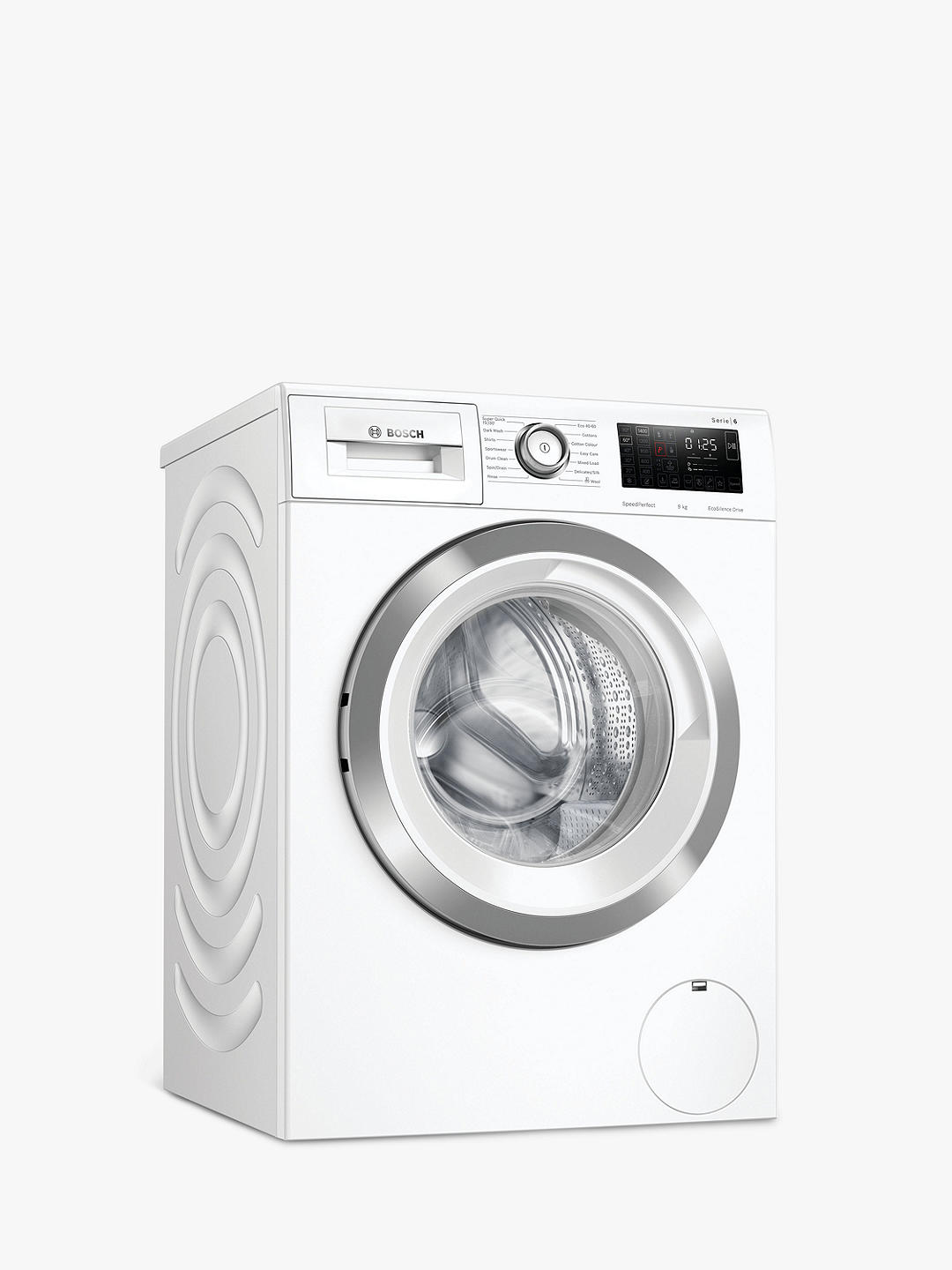 Buy Bosch Serie 6 WAU28R90GB Freestanding Washing Machine, 9kg Load, 1400rpm Spin, White Online at johnlewis.com