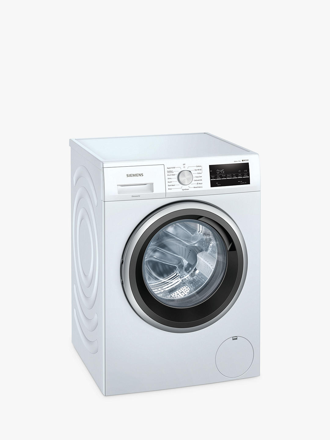 Buy Siemens iQ500 WM14UT89GB Freestanding Washing Machine, 8kg Load, 1400rpm Spin, White Online at johnlewis.com