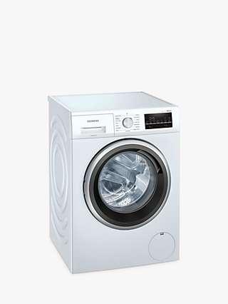 Siemens iQ500 WM14UT89GB Freestanding Washing Machine, 8kg Load, 1400rpm Spin, White