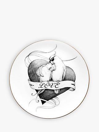 Rory Dobner Loved Up Lovebirds Plate, Dia.21cm