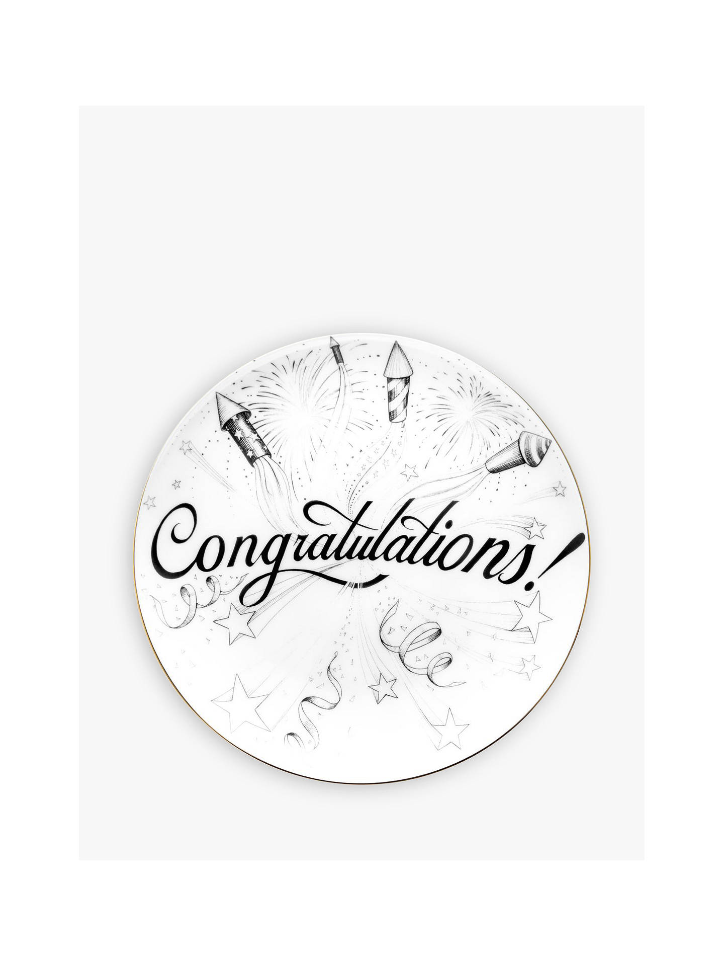 Buy Rory Dobner Congratulations Plate, Dia.16cm Online at johnlewis.com