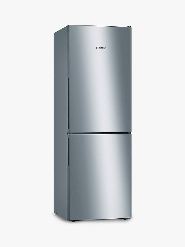 Buy Bosch Serie 4 KGV33VLEAG Freestanding 50/50 Fridge Freezer, Stainless Steel Effect Online at johnlewis.com